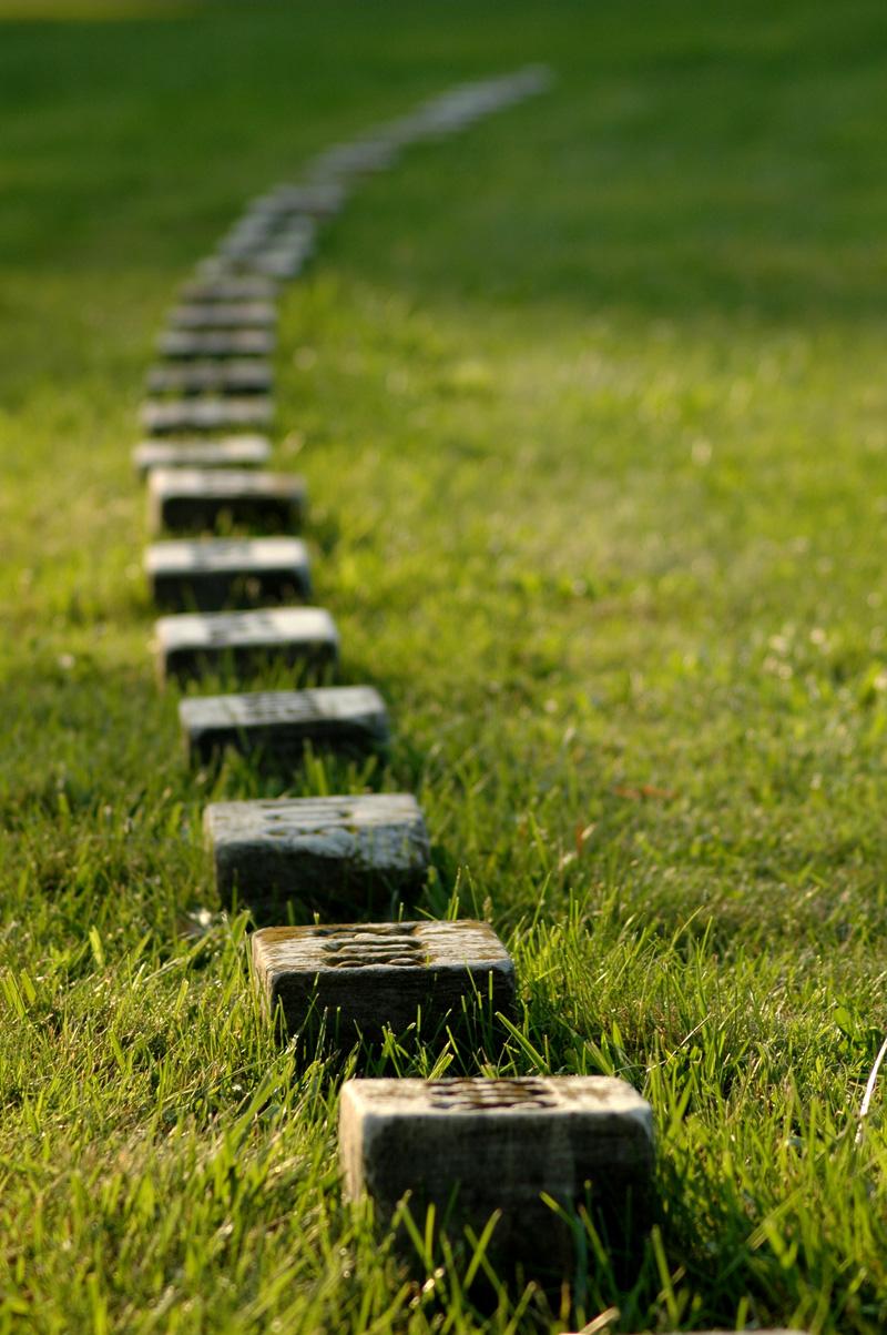 Tumbas de soldados caídos en la batalla en el cementerio de Gettysburg.
