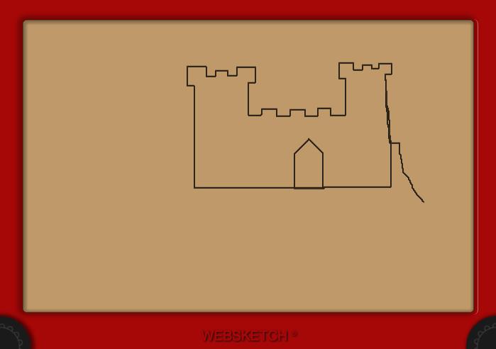 Captura de un dibujo de un castillo realizado con Websketch: La versión html5, css y javascript del famoso juguete para dibujar